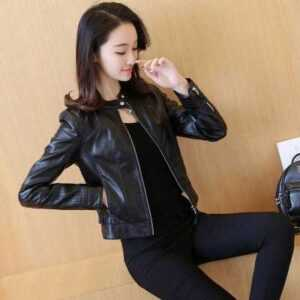 PU Leather Jacket For Women