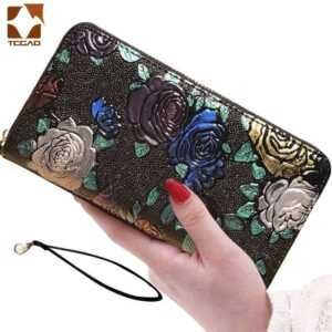 Long 3D Butterfly Luxury Brand Design Fashion Female Genuine Leather Purse