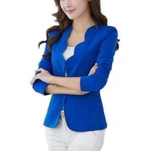 Casual One Button Business Blazer Suit for Women