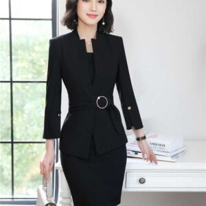 Formal Business Suits Blazers With Jackets And Dress Sets For Women