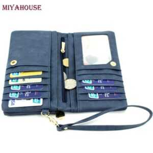 Long Dull Polish PU Leather Wallet