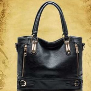 Fashion Brand Composite Split Leather Handbag