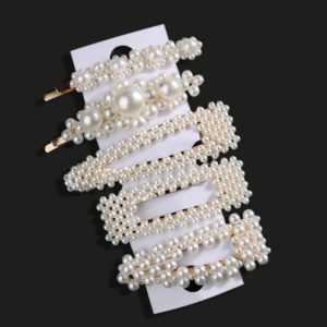 1 Set Fashion Sweet Pearls Hairpins