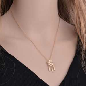 Fashion Dream Catcher Series Feather Necklace Jewelry For Women