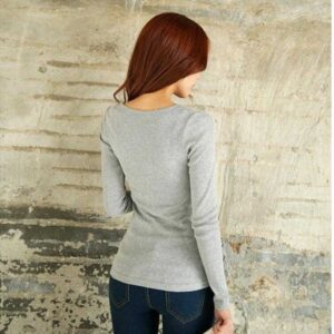 Women's New Color Long Sleeve Slim Size Cotton Shirt