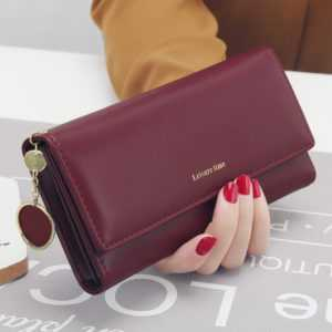 New Fashion Women Long Style Multi-functional PU Leather Wallet