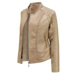 Plus Size M-3xl Women Basic Faux Leather Jacket