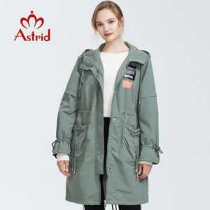 Female Trench Clothes Classic Women Hooded Solid Color Fashion