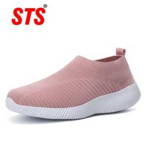 Female Air Mesh Sneakers Flat