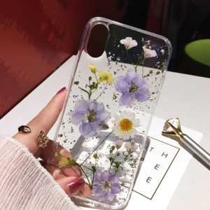 Dried Flower Silver Foil Clear Soft Silicone Back Cover Phone Cases For IPhone XS Max XR X 6 6S 7 8 Plus 11 Pro Max