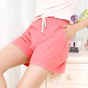Candy Color Wide Leg Plus Size Loose Leisure Drawstring Shorts