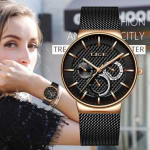 Stainless Steel Mesh Band Stylish Design Luxury Quartz Watch For Women