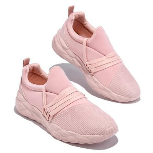 Women Lace Up Sneakers Autumn Casual Solid Walking Vulcanized Shoes Fashion Breathable Non Slip Round Toe Ladies Sport Shoes