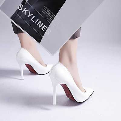 Women Pumps Sexy Elegant Thin Heel Pointed High Heels Black Work Single Shoes Dress Party Womens Shoes Red Wedding Shoes