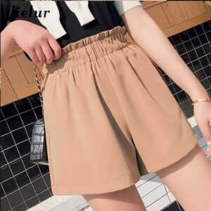 High Waist Basic Loose Shorts For Women