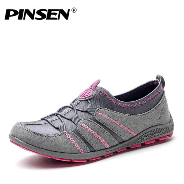 PINSEN 2020 Spring Women Flats Shoes Breathable Fashion Casuas Shoes Woman Slip-on Trainers Women Zapatillas Mujer Deportivas