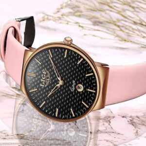 Women's Casual Leather Band Starry Quartz Watch