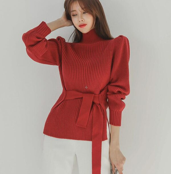 2019 Autumn Winter Women Pullovers And Sweaters Knitted Elasticity Casual Jumper Fashion Turtleneck Warm Female Sweaters