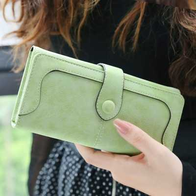 Many Departments Faux Suede Long Wallet Women Matte Leather Lady Purse High Quality Female Wallets Card Holder Clutch Carteras