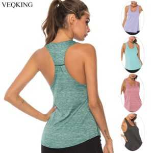 Sleeveless Racerback Yoga Vest, Women Sport Singlet, Athletic Fitness Sport Tank Tops, Gym Running Training Shirts