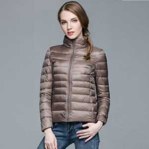 New Ultra Light White Duck Down Winter Women Slim Jacket
