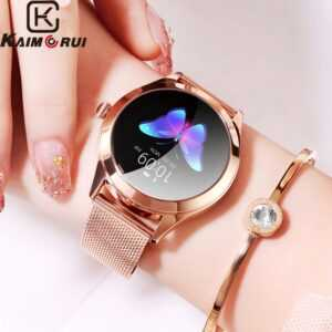 Female Smartwatch For Iphone IOS Android KW10 Band