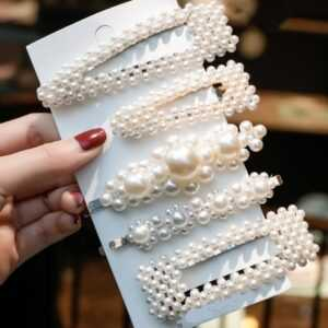 1 Set Sweet Fashion Pearls Hairpins