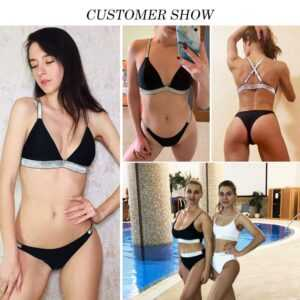 High Cut Micro Bikini Push Up Triangle Swimwear