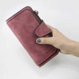 Luxury Card Holder Clutch Casual Women Leather Trifold Wallets