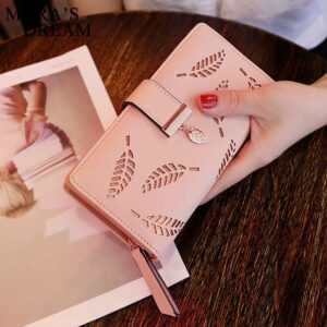 Leaves Hollow Women's Soft PU Leather Wallet